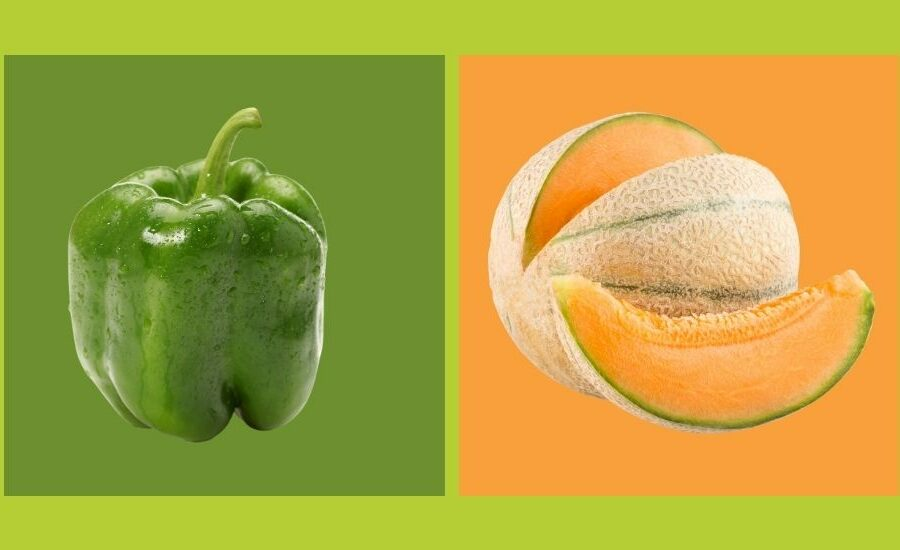 color de frutas y verdruras