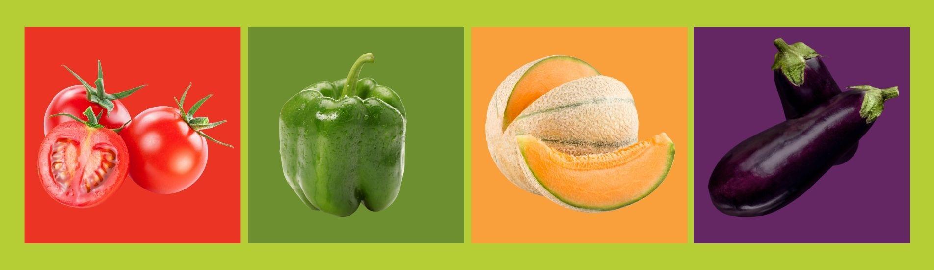 Beneficios de frutas y verduras según su color
