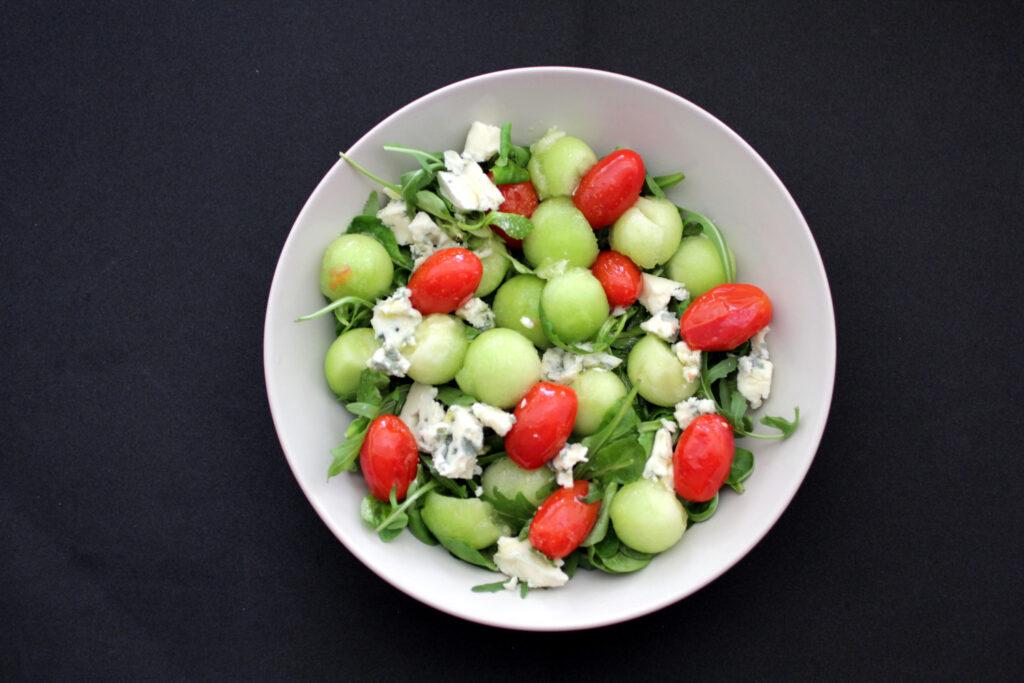 Ensalada de melón Galia y Roquefort