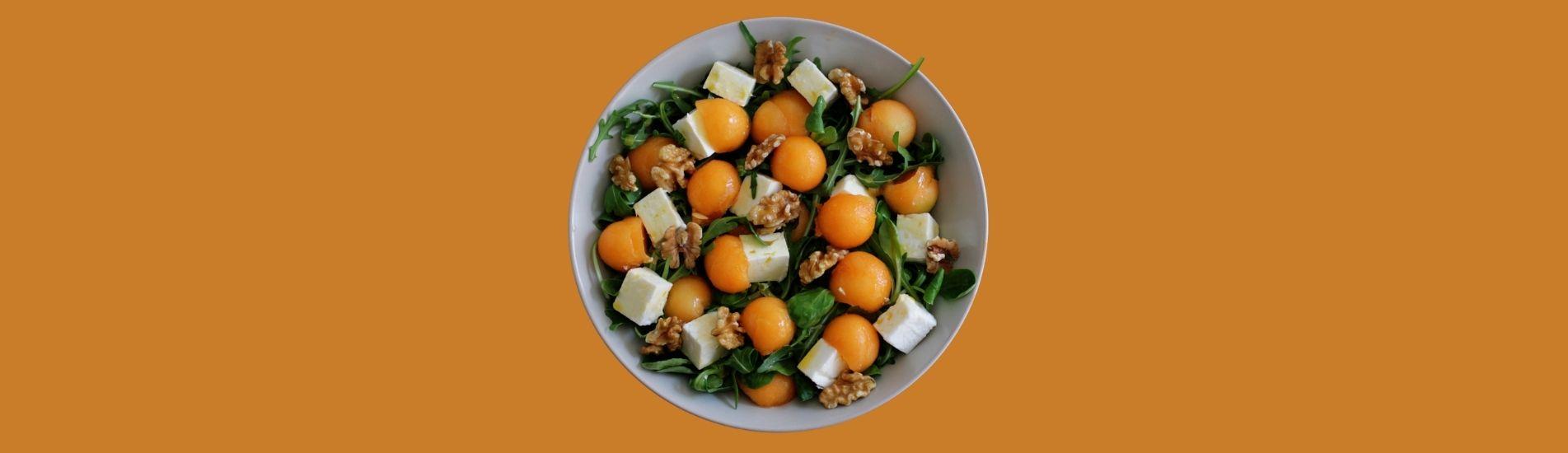 Ensalada mediterránea de melón Charentais